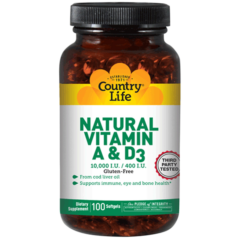 NATURAL VITAMIN A&D (Натуральные витамины А и D)
